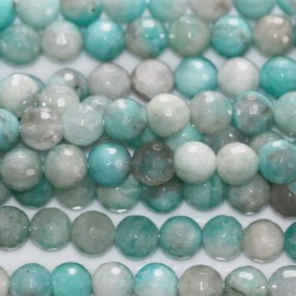 Amazonite 6 mm perle ronde facetée
