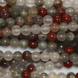 BeauMonde Jewelry - Blood stone 3 mm round bead