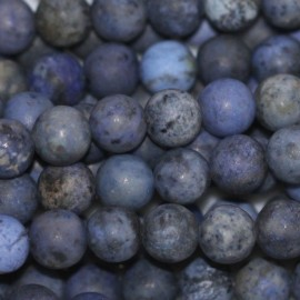 Dumortierite 6 mm matte round bead