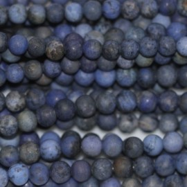 Dumortierite 4 mm matte round bead