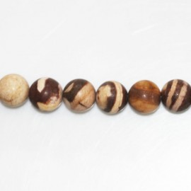 BeauMonde Jewelry - Agate coffee 8 mm matte round bead