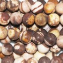 Agate coffee 6 mm matte round bead