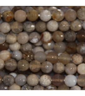 BeauMonde Jewelry - Agate 6 mm ocean fossil round faceted