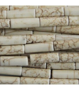 BeauMonde Jewelry - Howlite 13x4 mm ivory rounded tube