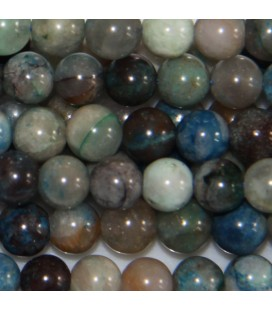 Mixed azurite 6 mm round bead