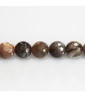 BeauMonde Jewelry - Sun stone grey 10 mm round faceted bead