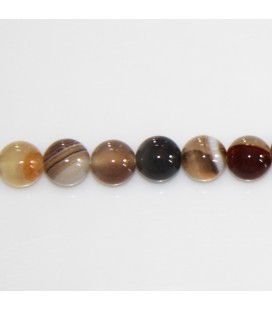 Agate 8 mm round bead