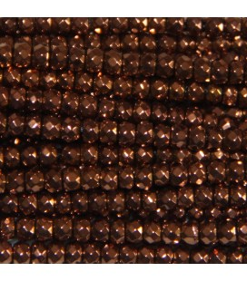 BeauMonde Jewelry - Hematite copper 2x3 mm faceted washer