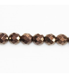 BeauMonde Jewelry - Hematite copper 8 mm round faceted bead