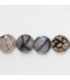 BeauMonde Jewelry - Agate 12 mm round faceted bead