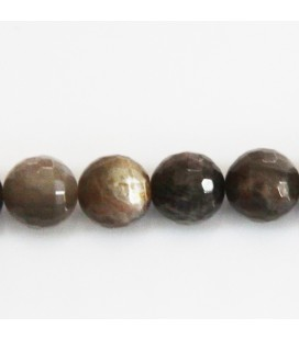 BeauMonde Jewelry - Sun stone grey 12 mm round faceted bead