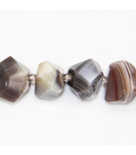 BeauMonde Jewelry - Agate Botswana about 20x12 mm carved nugget
