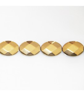 BeauMonde Jewelry - Hematite golden light 18x13 mm faceted oval