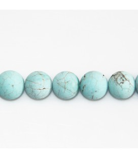 Howlite 10 mm turquoise perle ronde mat Chine