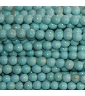 Howlite 4 mm perle ronde turquoise laiteux
