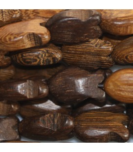 BeauMonde Jewelry - Wood of robles 16x9 mm plump fish