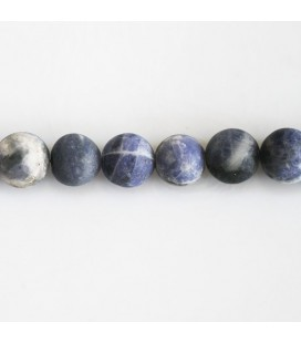 Sodalite 8 mm matte mixed round pearl
