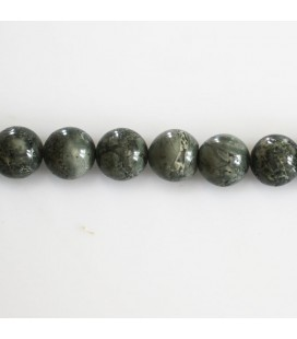 BeauMonde Jewelry - Jasper 8 mm round grey/green sustained bead