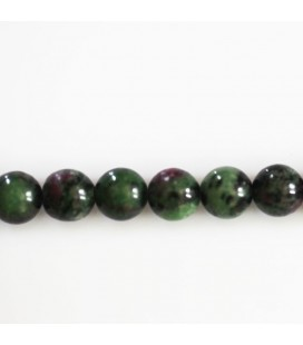 Rubyzoisite 8 mm round bead