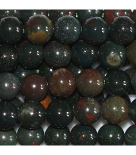 BeauMonde Jewelry - Jasper blood stone 6 mm round bead (sanguin)