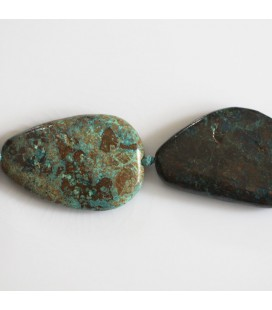 BeauMonde Jewelry - Chrysocolle about 30x24 mm irregular flat pebble