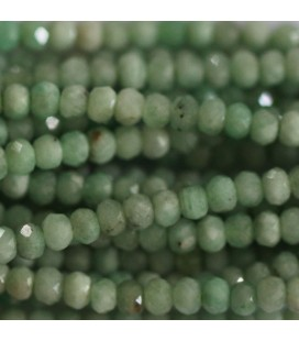 BeauMonde Jewelry - Chrysoprase 3x2 mm faceted washer