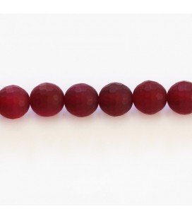 BeauMonde Jewelry - Agate fuchsia 8 mm matte round faceted bead