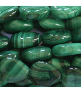 Malachite 8x10 mm flat drop Africa