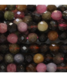 BeauMonde Jewelry - Tourmaline multi 4 mm faceted round bead