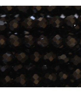 Tourmaline black 4 mm round faceted bead