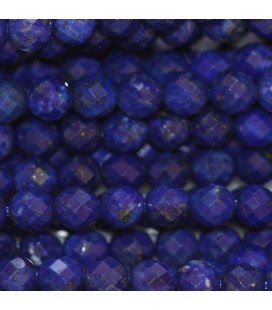 Lapis lazuli 4 mm round faceted bead quality A Afghanistan