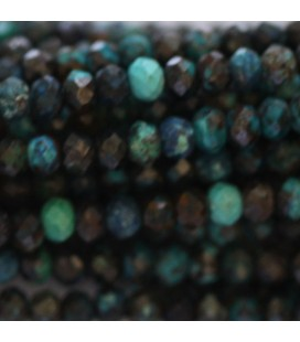 BeauMonde Jewelry - Chrysocolle 2x3 mm faceted washer