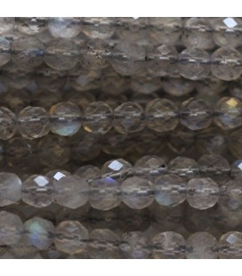 BeauMonde Jewelry - Labradorite 4 mm round faceted bead quality A