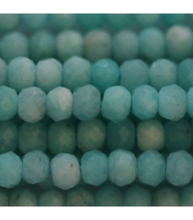 BeauMonde Jewelry - Amazonite 3X4 mm faceted washer Peru