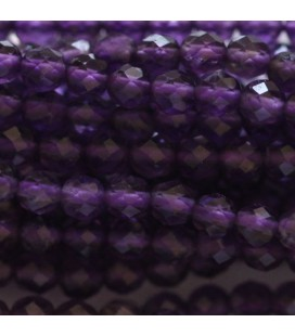 BeauMonde Jewelry - Amethyst 3 mm round faceted bead