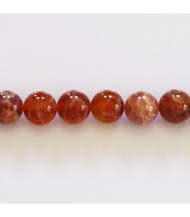 BeauMonde Jewelry - Agate fire 8 mm round bead Brazil