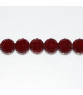 Bead 8 mm round faceted thin facets