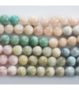 BeauMonde Jewelry - Multi stones 6 mm round bead arranged by colors