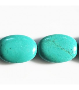 Howlite 18x25 mm ovale plat (nouvelle turquoise)
