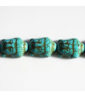 Howlite imitation 20x14 mm bouddha