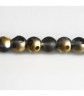 BeauMonde Jewelry - Glass bead 8 mm round matte/shiny large facets