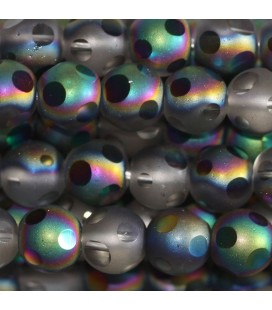 BeauMonde Jewelry - Glass bead 6 mm round matte/brilliant large facets