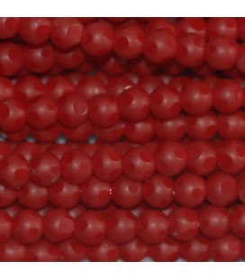 BeauMonde Jewelry - Glass bead 4 mm round matte/shiny large facets