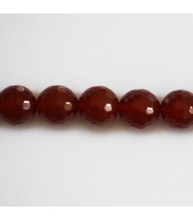 BeauMonde Jewelry - Carnelian 10 mm faceted round bead (red agate) Brazil