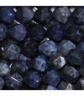 BeauMonde Jewelry - Dumortierite 8 mm round faceted bead (large facets)