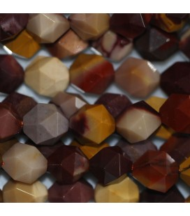 BeauMonde Jewelry - Mokaite 8 mm round faceted bead (large facets)