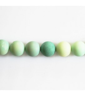 BeauMonde Jewelry - Opal 8 mm round matte green bead