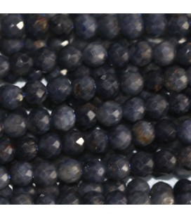 BeauMonde Jewelry - Sapphire 2 mm faceted round bead