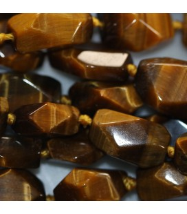 Tiger eye 10x14 mm carved nugget Africa