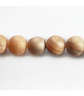 BeauMonde Jewelry - Agate 10 mm round bead with inlays